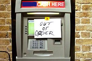 Cashpoint. Out of order.